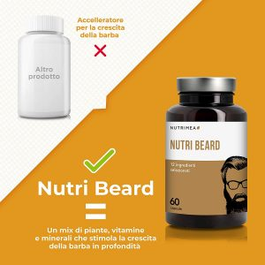 multivitaminico per infoltire la barba